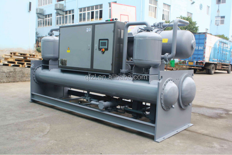 The third generation section bar oxidation direct cooling type flooded water cooled screw chiller