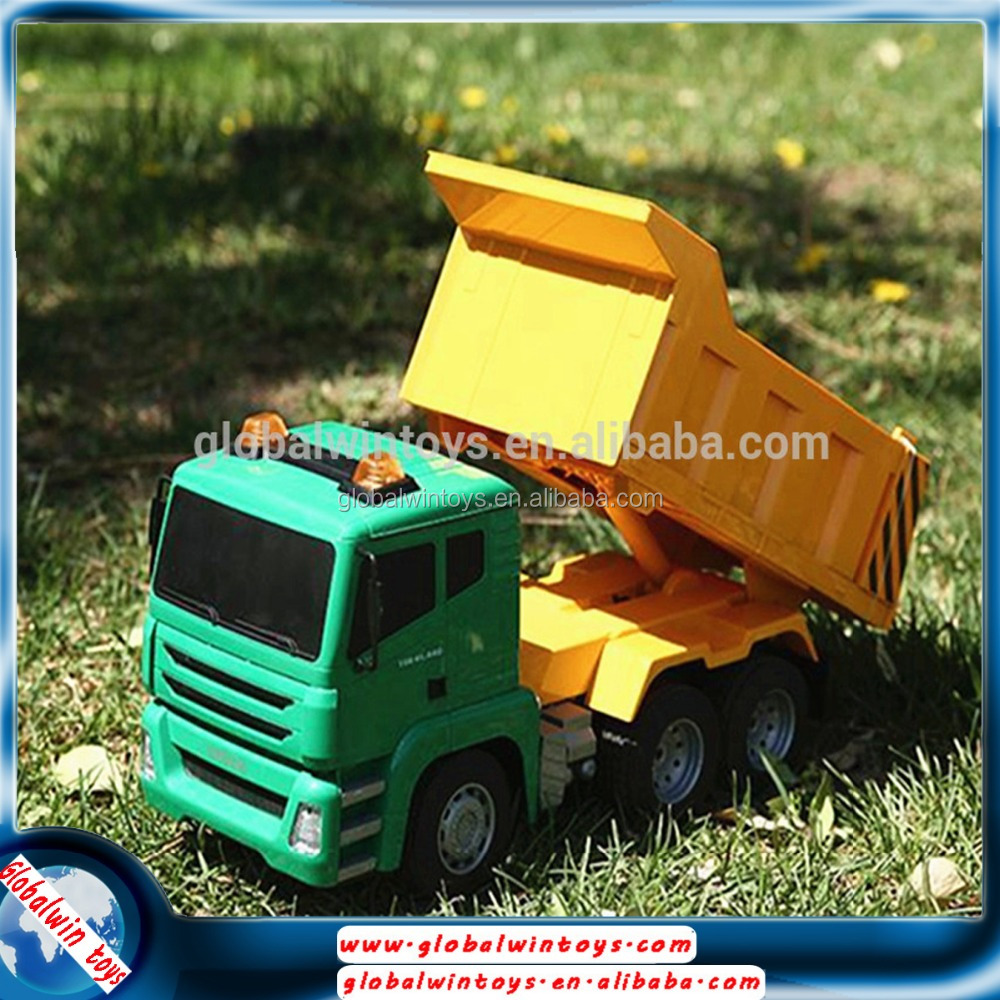 Best selling toy 1:18 big size car model 6 wheel dump truck capacity remote control 6 wheel truck for sale