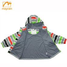 PU waterproof kids safety reflective oeko-tex rain jacket