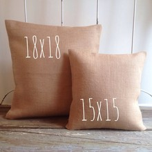 lepanxi brand 100% plain dyed cotton canvas blank throw pillow cover