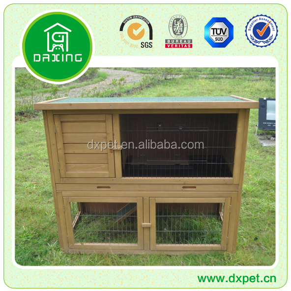 Wooden Ourdoor Rabbit Hutch Wire