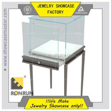 2017 Low iron tempered glass jewelry display showcase and counter jewelry store cabinet