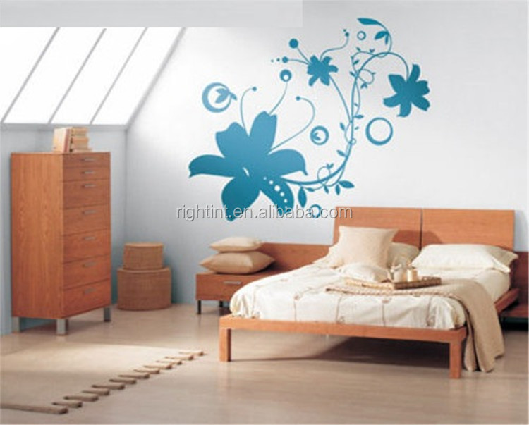 Matt color removable self adhesive PVC film for wall decal