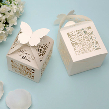 Wedding Favor Creative Rose Shape Box Candy Packing Box