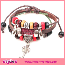 2015 Wholesale Fashion Mens Spanish Leather Bracelets