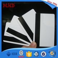 MDP169 Cheap Price Blank White Plastic Cards with Hico Magnetic Stripe CR80 0.76 mm with factory in China