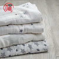 MS346 swaddle blanket 100% cotton printed baby muslin organic white, muslin cotton cloths