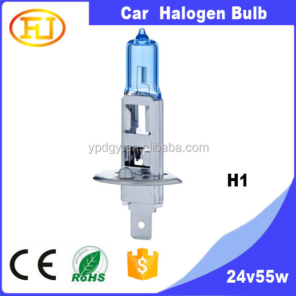 H1 6000K Xenon Super White Car HeadLight Bulb 24V 55w HID Halogen light