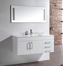Hot Sale New European Style Mirror MDF Bathroom Cabinet