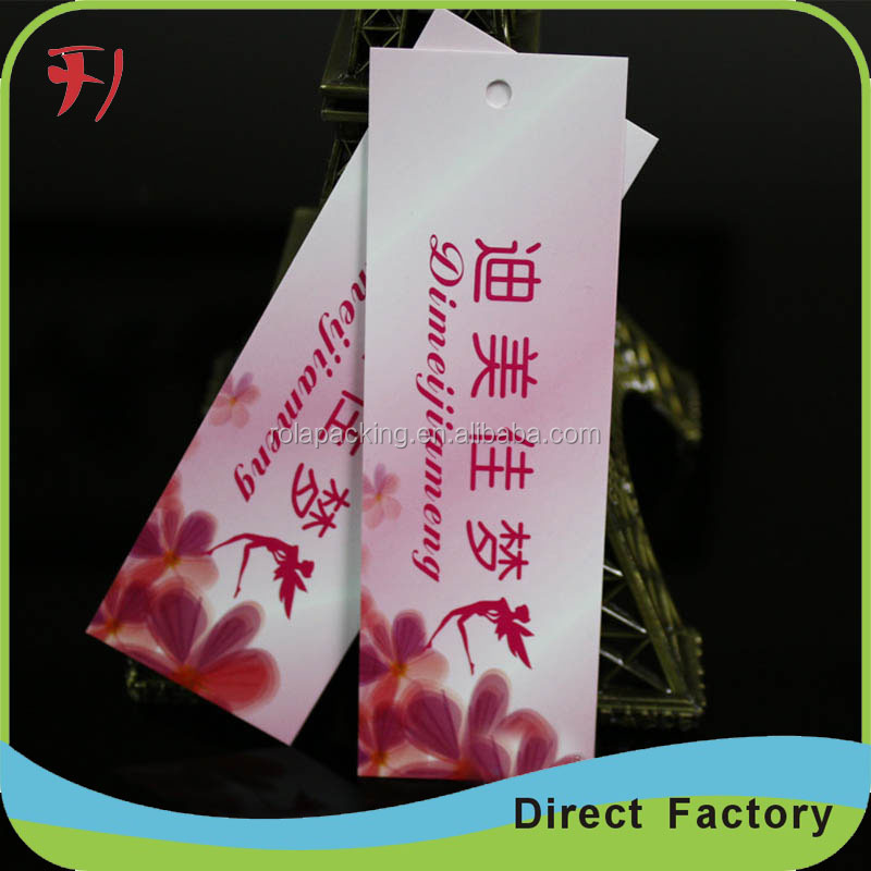 Cheap Custom Garment Cardboard Folding Hang Tag for bangalore branded garments