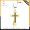 New design womens diamond crystal gold plated cross pendant