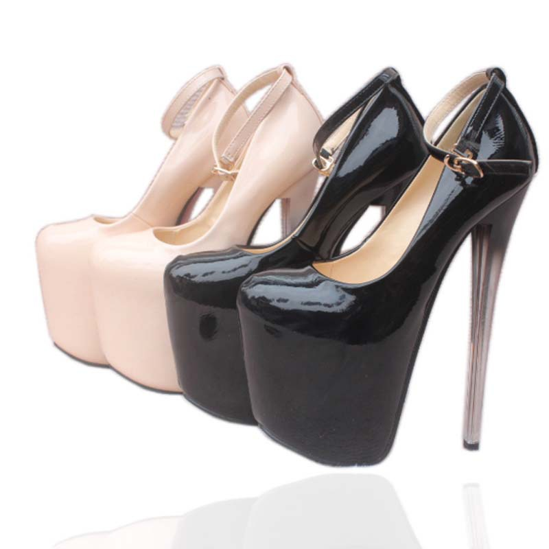 SAA4686 Large size small size 34-43 women shoes fashion super high stiletto heel sexy night club ladies high heel shoes 19cm