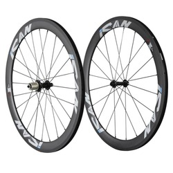 ICAN 50mm Carbon Clincher Road Bicycle Spoke Light Wheels With R13 hub Only 1460g/set