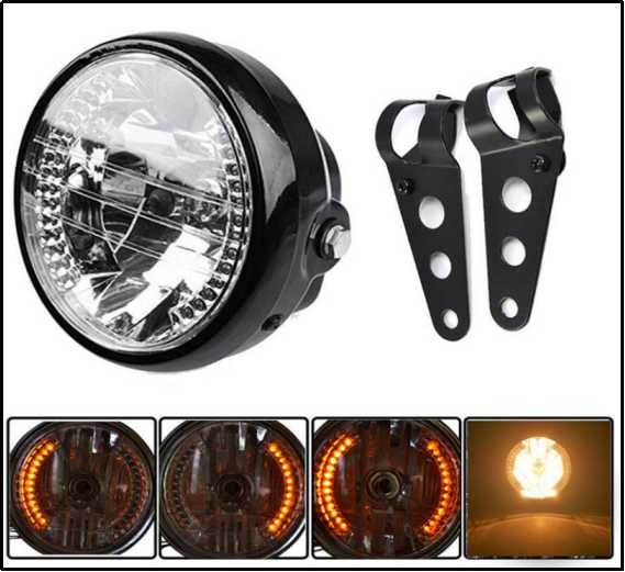 7 Inch Universal Round motorcycle headlight  with Stand for harley