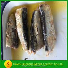canned sardine with vegetable oil 125g for UAE market