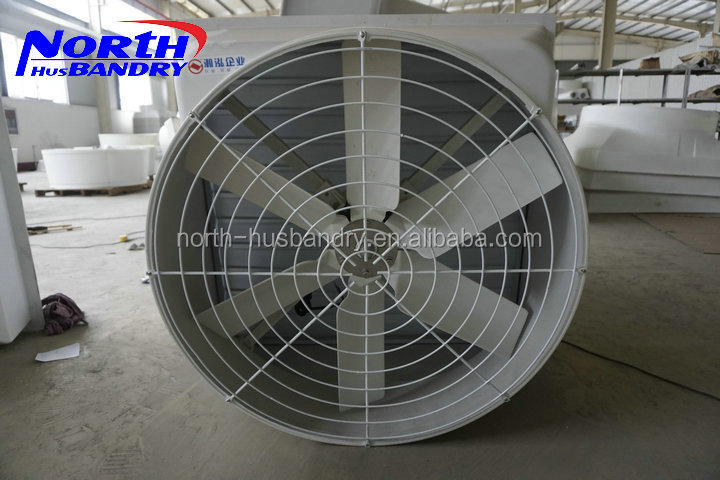 Large Industrial Automatic Louvered Factory Fiberglass Exhaust Fan