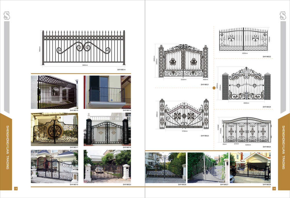 Modern Cast IronWrought Iron House Gate Design View house gate