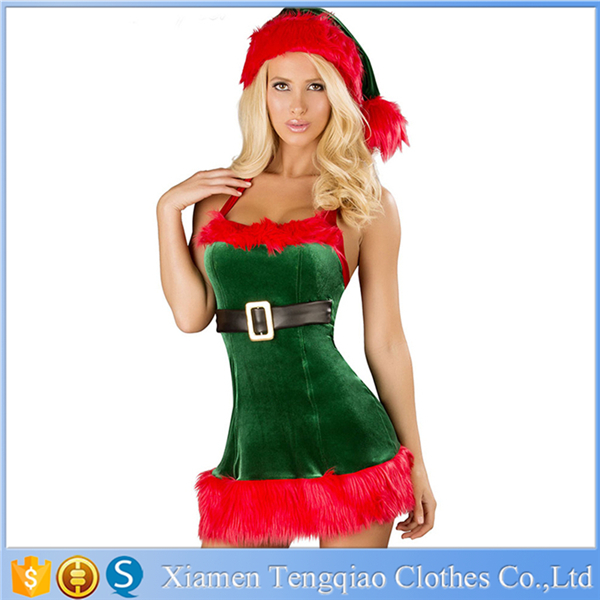 New Design Hot Sexy Christmas Tree Costume