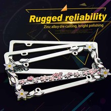 rhinestone license plate frames,license plate brackets,hot selling top quality manufacture reflective license plate cool car num
