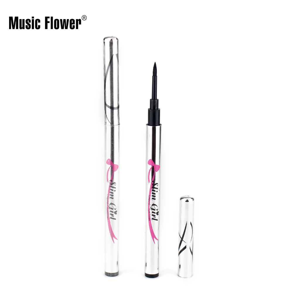 Music Flower Professional Makeup Brand Waterproof Liquid Eyeliner Pen Smooth Black Eyeliner Pencil Lasting Eye Liner Cosmetics