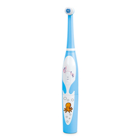 Powered by 2 pcs AAA batteries ABS double sided kid toothbrush