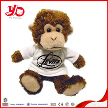 big monkey with white T-shirt, wholesale stuffed monkey toys, plush monkey toys
