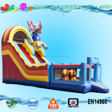 China Manufacture Multiplay Elephant Circus Inflatable Slide Inflatable Bouncy Castle with Water Slide Inflatable Bouncer Slide