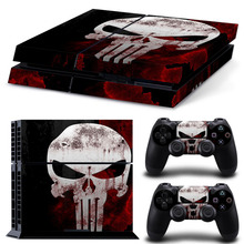 Full Body Game Skin Vinyl Sticker Decal for PS4 <strong>Playstation</strong> 4 Console and Controllers - Red skull #TN-PS4-1844