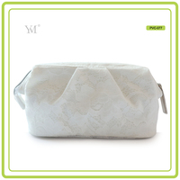 travel promotion waterproof pvc lace zipper cosmetic make up pouch shopping clutch bag women bags