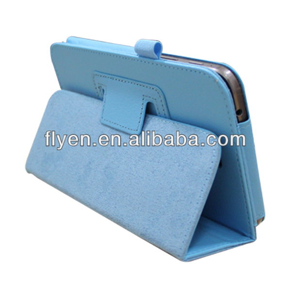 New Folding Folio cute case blue Crocodile Leather Stand Cover Case For Samsung Galaxy Tab 3 7.0 inch T210