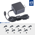 UL 45W AC Laptop Charger Automatic Voltage Power Adapter 11 Tips US plug for HP Dell Toshiba IBM Lenovo Acer ASUS Samsung