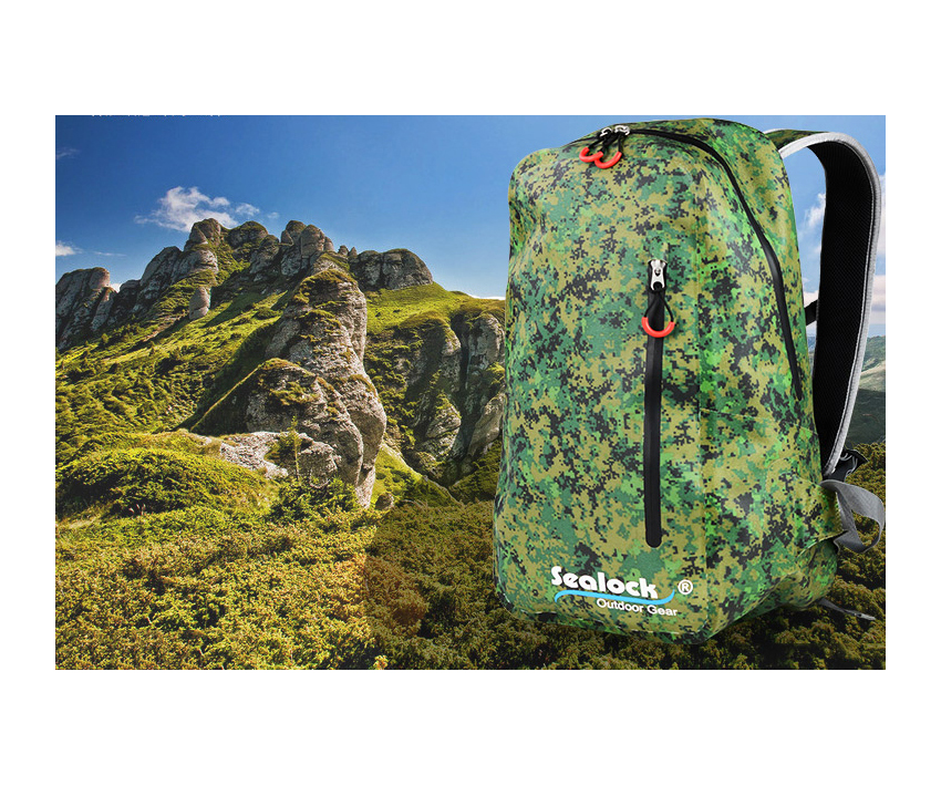 High quality Sealock 420D TPU waterproof outdoor sport camping climbing Hiking dry bag with Silk printing Backpack for packing