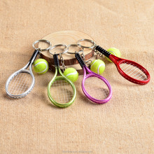 Tennis ball keychain,tennis racket and ball keychain,Tennis racquet key ring