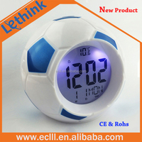 Home Decoration Football Shape Digital Table Clock/Desk Clock With temperature