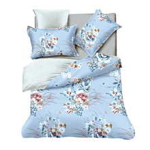 Twin textile home 3pcs polyester set bedding article in china