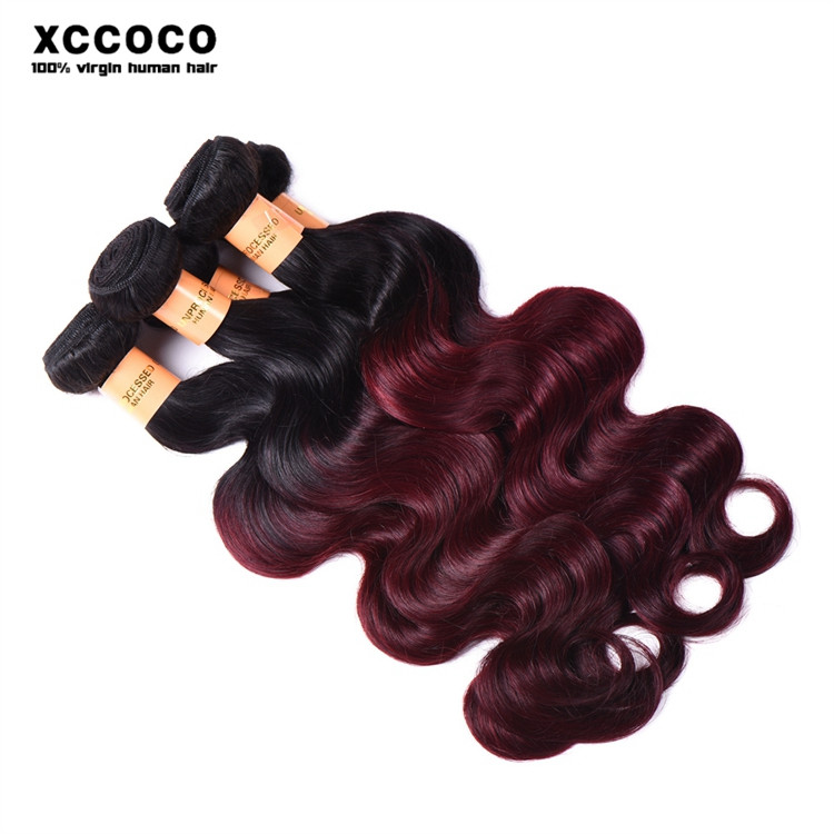 Aliexpress Alibaba Virgin Human Hair Ombre Hair Weave 1b 99j Ombre Hair Extension