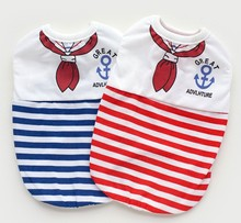 2016 New style Navy Pattern China Factory Wholesale dog clothes