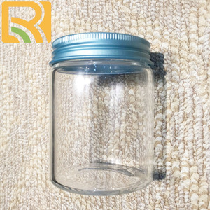 Wholesale empty milk 100ml bottles juice candy cookie food glass bottles with aluminum lid gift bottles
