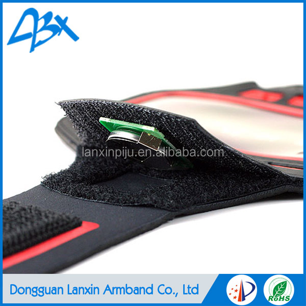 High quality LED outdoor sport running elastic armband;light up case for iphone 5c