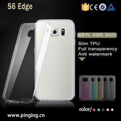 0.5 mm clear crystal ultra thin tpu case for Samsung s6 edge plus