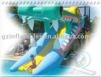 2010 Qi Ling inflatable floating water slide--- lead free test