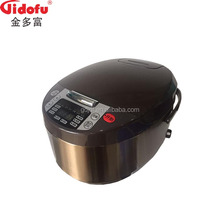 Chinese national certificated big deluxe beauty square shape small size 12 in 1 electric rice cooker