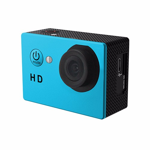 disposable cheap gift waterproof action camera/720p sports camera