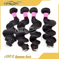 Top grade 7a high quality virgin brazilian hair, Unprocessed virgin loose wave 100% brazilian human hair