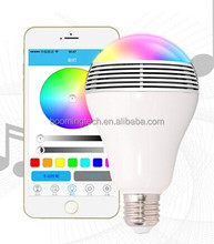 2016 hot selling bluetooth Bulb Speaker with RGB & App,combination with LED and Sound