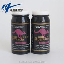 Empty aluminum natural men sex power medicine / pills / tablets metal bottles for sale