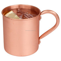 China wholesale 100 % Pure Copper mule Mug, Moscow Mules 15 oz solid Copper Mule Mug,solid copper mug copper bar cup