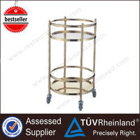 Top SS304/201 NSF Wine Service Stainless Steel Beverage Cart