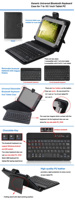 Universal bluetooth keyboard with Leather case for Tab 6~10 inch