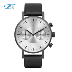 China manufacturer oem design your own time service international men leather wrap watch